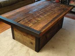 reclaimed wood coffee table with storage endearing furniture for living room decoration with storage trunk coffee