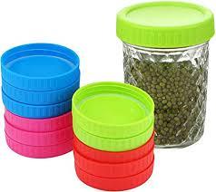 12 Pack Colored Wide Mouth Mason Jar Lids Fits Ball ... - Amazon.com