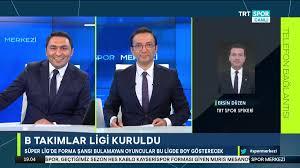 """TRT Spor on Twitter: """"🗣@trtspor spikeri Ersin Düzen, TFF'nin aldığı  'seyircili maç' ve 'B Takımlar Ligi' kararlarını değerlendirdi...… """""""