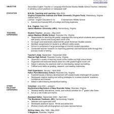Resume Of English Teacher Sample Sugarflesh