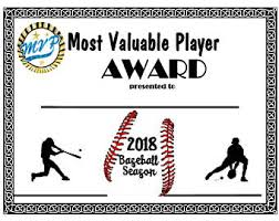 mvp award certificates baseball mvp award etsy