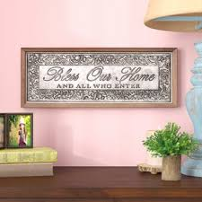 bless our home framed textual art on metal on bless this home metal wall art with bless this home wall art wayfair