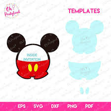 Mickey mouse invitation SVG file, Mickey mouse svg, invitation template,  PDF file, dxf, file png, eps, Mickey Mouse Silhouette Vector SVG in 2020   Mickey  mouse invitation, Mickey mouse silhouette, Mickey