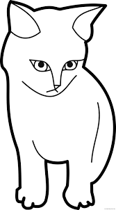 black and white cat clipart. Clipart Cat Outline Typegoodiesme Clip Art Black And White With