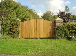 steel framed hard wood gates