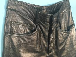black leather motorcycle pants wilsons size 2 86 95