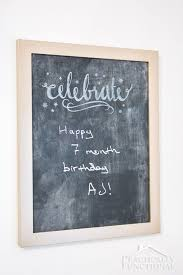 it s so easy to turn an old picture frame into a diy chalkboard sign