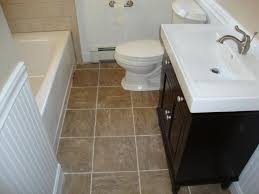 small bathroom flooring. Divine Bathroom Design And Decoration Using Cream Vanity : Wonderful Small White Flooring F