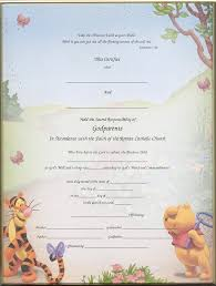 Christening Certificates For Godparents Blank Printed Imaged