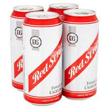 Red Stripe Light Lemon Red Stripe Jamaica Lager Beer 4 X 440ml Cans Beer