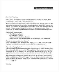 Volunteer Application Letter Templates