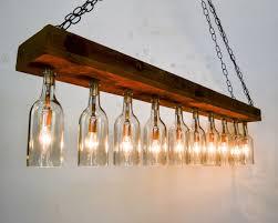 rustic sasya barn wood and wine bottle chandelier
