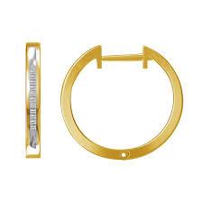womens diamond clics baguette diamond channel hoop earrings