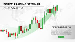Candlestick Chart App Forex Trading Seminar With Candlestick Chart Vector Illustration
