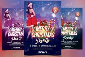 christmas psd flyer template net christmas