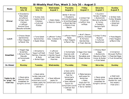 Meal Plan Monday No Oven Required July 23 August 5 The