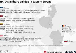 The Map That Shows How Many Nato Troops Are Deployed Along