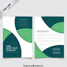 Green Brochure Template Brochure Template With Green Circles Vector Free Download