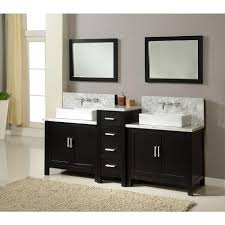Double Bathroom Sinks Direct Vanity Sink Horizon Premium 84 In Double Vanity In Ebony