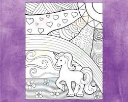 Small Picture Unicorn coloring Etsy