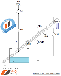 water level detector circuit diagram the wiring diagram water tank overflow liquid level sensor alarm circuit circuits circuit diagram