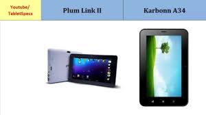 Plum Link II & Karbonn A34, Detailed ...