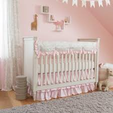 pink crib bedding images galleries french gray and pink damask crib bedding carousel designs