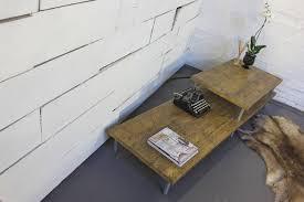 yumiko reclaimed scaffolding layered coffee table
