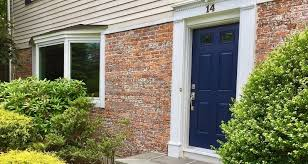 bow window fiberglass entry door update front of scarsdale home