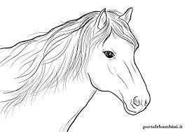 Horses coloring pages for kids. Horse Coloring Pages Portalebambini Com