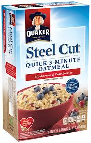 amazon quaker steel cut quick 3 minute oatmeal brown sugar and cinnamon 13 5 ounce 6 pack