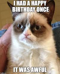 grumpy cat i had a birthday once. Unique Once Grumpy Cat Meme  I HAD A HAPPY BIRTHDAY ONCE IT WAS AWFUL Image Tagged On Had Birthday Once Imgflip