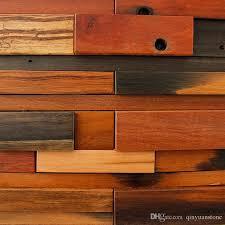 ancient ocean wood mosaic tiles home wall mounted art decor tile floorings backsplash natural wooden tiles canada 2019 from qinyuanstone