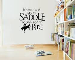 Western Decor For Living Room Online Shop Saddle Up Horse Rider Western Wall Decals Vinyl