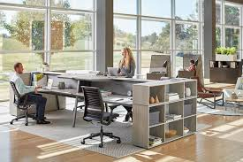 Image Zenpro Office Bivi Depot Shelf Is Placed Next To Bivi Desks In An Open Office Turnstone Your Guide To Creating Zen Office Space To Improve Focus