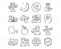 Set Of Cleaning Service Job Interview And Human Sing Icons