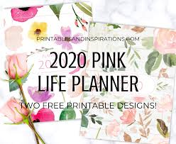 2020 monthly planner template your free 2020 pink life planner printable is here
