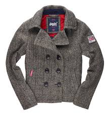 superdry rookie peacoat coats tweed women s clothing superdry coats warm fantastic