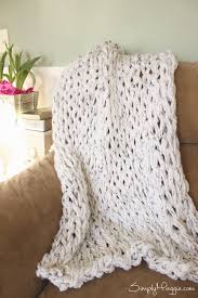 Arm Knit Blanket Pattern Impressive Knit A Chunky Blanket In 48 Hour With Arm Knitting SimplyMaggie