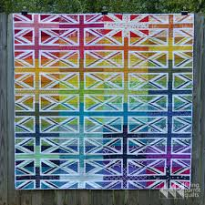 Finished Union Jack quilt – Flying Parrot Quilts & Rainbow Union Jack quilt   Flying Parrot Quilts Adamdwight.com