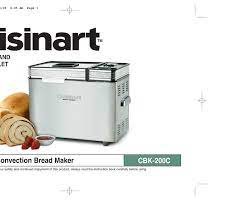 In case you failed to obtain relevant information in this document, please, look through related operating manuals and user instructions for cuisinart. Cuisinart Cbk 200c Instruction And Recipe Booklet Pdf Download Manualslib