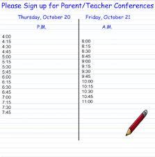 Parent Sign Up Sheet Smart Exchange Usa Parent Teacher Conference Sign Up