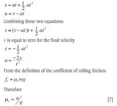 Determination Of The Coefficients Of Restitution Static And