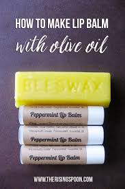 homemade lip balm made with olive oil beeswax cocoa er vitamin e oil