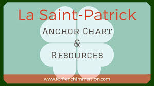 What Is Your Leprechaun Name Chart St Patricks Day French Anchor Chart Free Printables