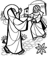 Kết quả hình ảnh cho đức bà đi viếng bà thánh isave
