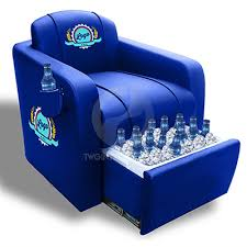 bud light leather chair with cooler design ideas