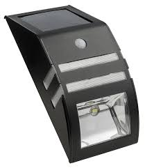 gl23101mb solar stainless steel security light built in solar panel by paradise com
