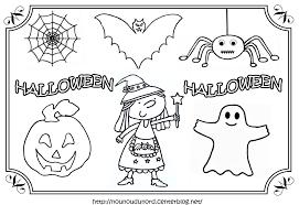 Dessin Colorier Halloween Imprimer L L L L L L L L