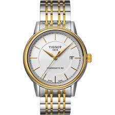 t0854072201100 tissot carson silver watch 0 tissot carson automatic t0854072201100 mens watch gold silver stainless steel band